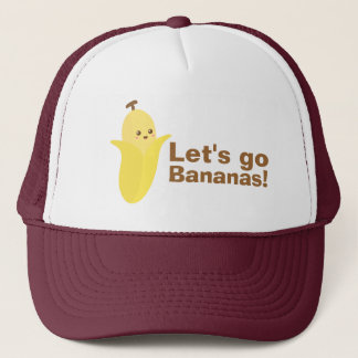 Partons des bananes avec cette banane mignonne et casquette