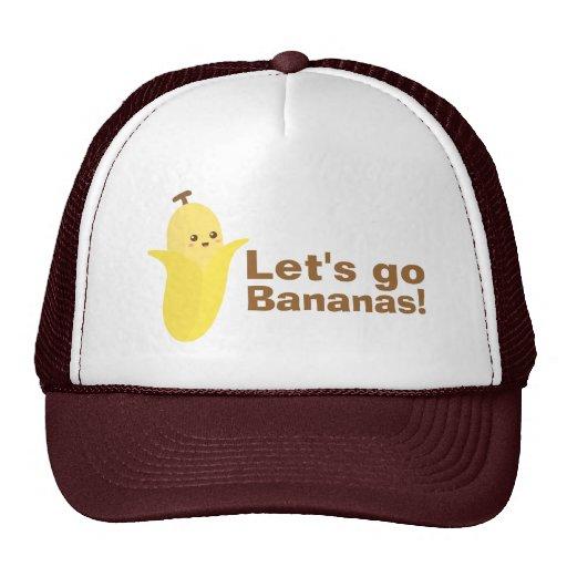 Partons des bananes avec cette banane mignonne et  casquettes