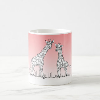 Partons sur la tasse de girafe de safari