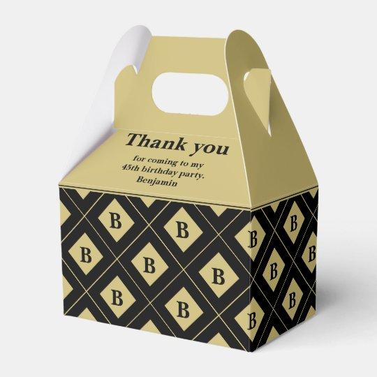 """Party le noir de """"Merci""""/blocs géométriques d'or Ballotins"""