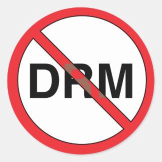 Pas bons autocollants de gestion (DRM) de Digitals