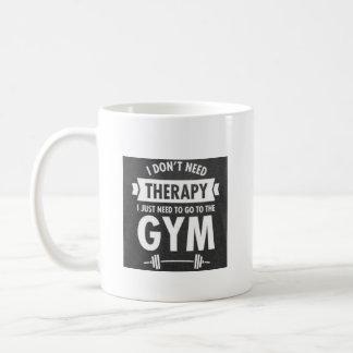 Pas la thérapie font la tasse de gymnase