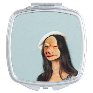 Pas me aan! De Compacte Spiegel van het Gezicht Reisspiegeltjes