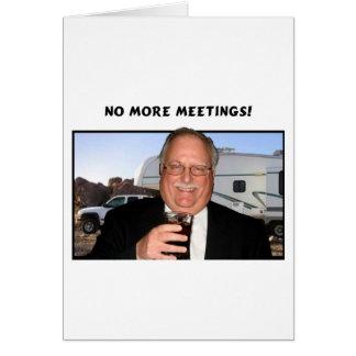 Pas plus de réunions carte de vœux