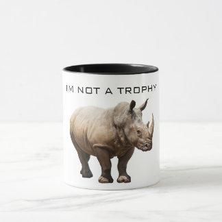 Pas une tasse de trophée de rhinocéros