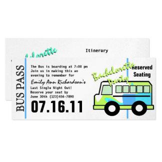 Passage d'autobus de partie de Bachelorette Carton D'invitation 10,16 Cm X 23,49 Cm