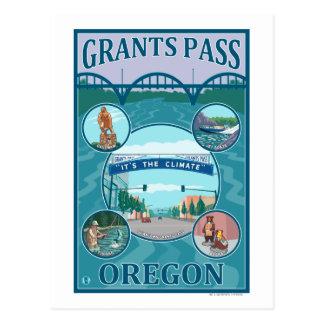 Passage de concessions, affiche de voyage carte postale