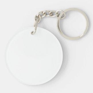 Passende Zwarte & Witte Acryl Ronde Keychain Sleutelhanger