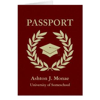 passeport d'obtention du diplôme carte de vœux