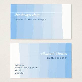 Pastel bleu simple élégant simple d'aquarelle cartes de visite