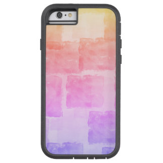 Pastel d'Ombre d'art d'aquarelle d'arc-en-ciel Coque Tough Xtreme iPhone 6