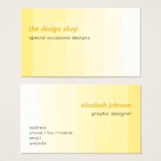 Pastel jaune simple élégant simple d'aquarelle cartes de visite