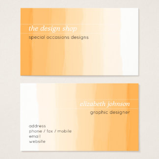 Pastel orange simple élégant simple d'aquarelle cartes de visite