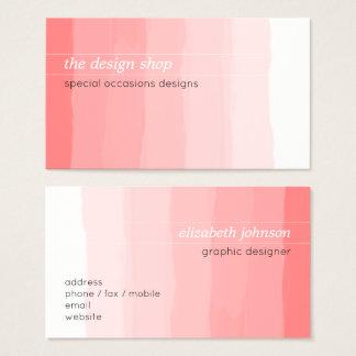 Pastel rose simple élégant simple d'aquarelle cartes de visite