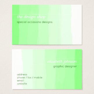 Pastel vert simple élégant simple d'aquarelle cartes de visite