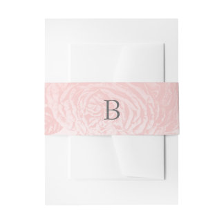 Pastels roses de cru de bandes de ventre : Quartz Bandeau De Faire-part