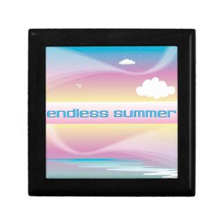 Pastels sans fin d'été boîte à babioles