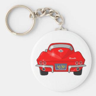 Pastenague 1964 de Chevrolet Corvette Porte-clé Rond