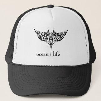pastenague de la vie d'océan casquette
