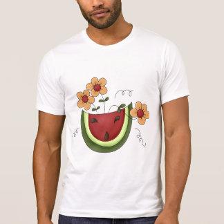 Pastèque et T-shirt des hommes de marguerites