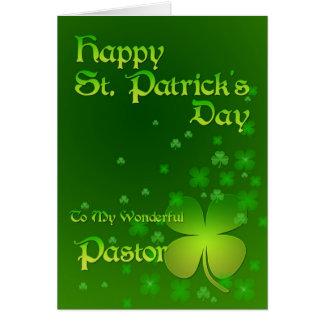 Pasteur, carte du jour de St Patrick heureux