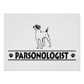 Pasteur humoristique Russell Terrier Poster