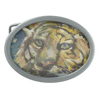 Patauger le tigre boucles de ceinture ovales