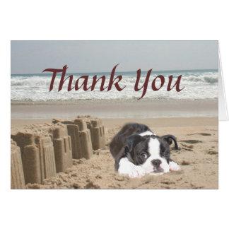 Pâtés de sable de carte de remerciements de Boston