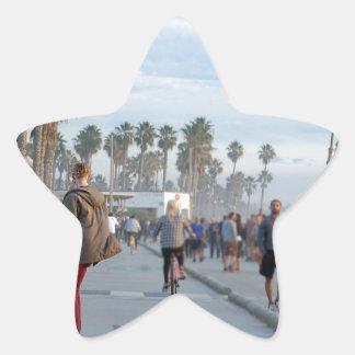 patinage à la plage de Venise Sticker Étoile
