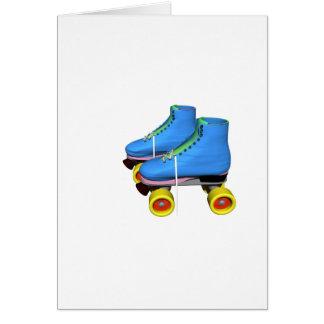 Patins de rouleau bleus carte