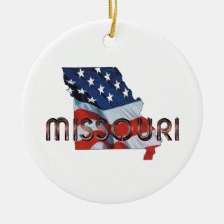 Patriote du Missouri de PIÈCE EN T Ornement Rond En Céramique
