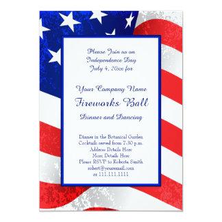 Patriote les USA drapeau 4 juillet américain Carton D'invitation 12,7 Cm X 17,78 Cm