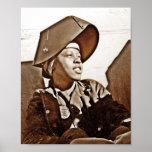 Patriotes de femmes d'Afro-américain Affiche