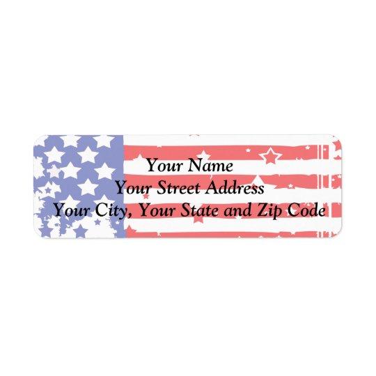 Patriotique Étiquette D'adresse Retour