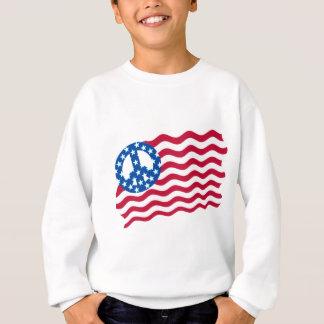 Patriotisme et paix dans la conception de drapeau sweatshirt