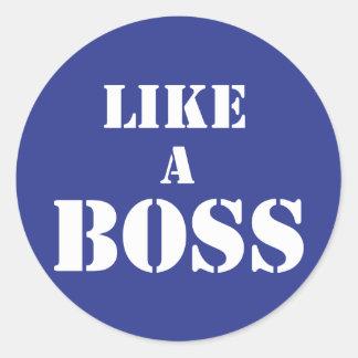 Patron d'entreprise sticker rond