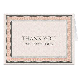 Patronen & Grenzen 1 danken u voor Uw Zaken Kaart