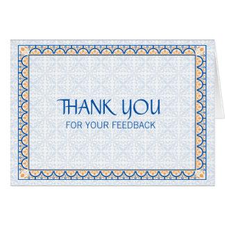 Patronen & Grenzen 2 danken u voor Uw Kaart