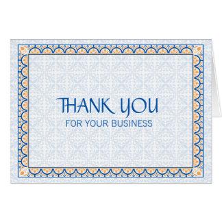 Patronen & Grenzen 2 danken u voor Uw Zaken Kaart
