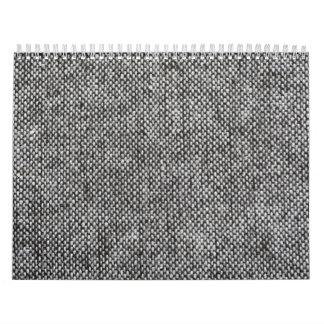 Patroon van de Textuur van de Stof van de Tweed Kalender