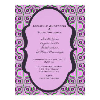 Patroon van het Huwelijk van mod. het Roze Mauve Gepersonaliseerde Folder