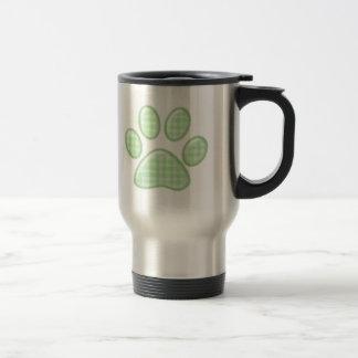 patte de chat de guingan - vert mug de voyage