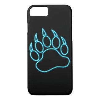 Patte d'ours bleue au néon coque iPhone 7