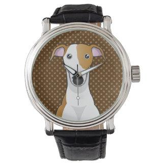 Pattes de bande dessinée de chien de lévrier montres