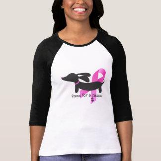 Pattes pour un teckel du cancer du sein | de la t-shirt
