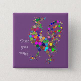 Pavanez-vous votre substance ! badge carré 5 cm