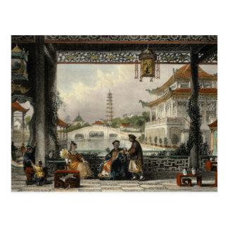 Pavillon et jardins d'une mandarine près de Pékin, Carte Postale