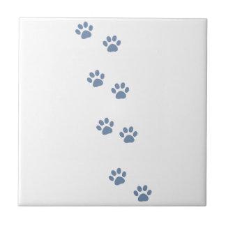 pawprints de chat de chien d'animaux familiers petit carreau carré