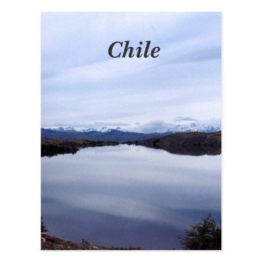 Paysage chilien carte postale