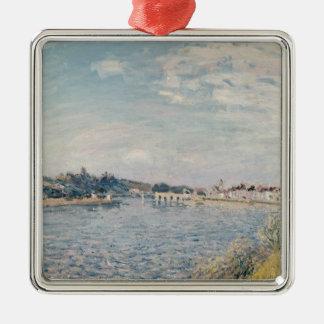 Paysage d'Alfred Sisley   Ornement Carré Argenté
